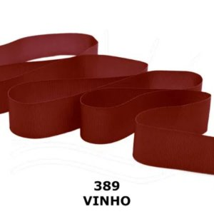 Fita Gorgurão Progresso 22mm nº5 - 10m Cor 389 Vinho - 01 unidade