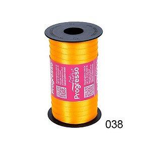 Fita de Cetim Progresso 7mm nº1 - 100m Cor 038 Amarelo Ouro - 01 unidade