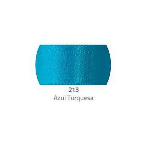 Fita de Cetim Progresso 50mm nº12 - 10m Cor 213 Azul Turquesa - 01 unidade