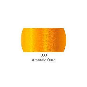 Fita de Cetim Progresso 50mm nº12 - 10m Cor 038 Amarelo Ouro - 01 unidade