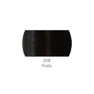 Fita de Cetim Progresso 50mm nº12 - 10m Cor 219 Preto - 01 unidade