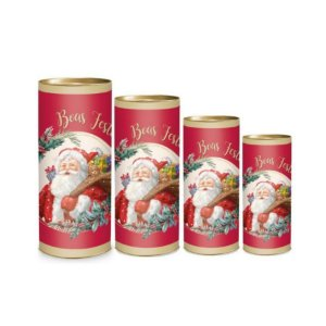 Lata para Presente - Papai Noel - 01 unidade - Cromus Natal - Rizzo