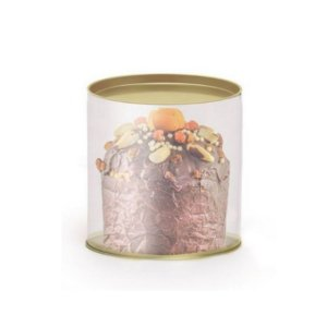 Lata para Panetone Clean 100g 11x9,1cm - Cromus Natal - Rizzo Confeitaria
