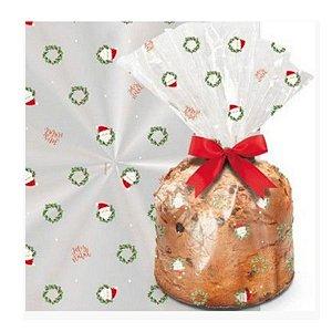 Saco para Panetone Guirlanda - Cromus Natal - Rizzo