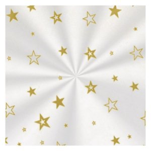 Saco Decorado Estrela Ouro - 25x37cm - 100 unidades - Cromus - Rizzo