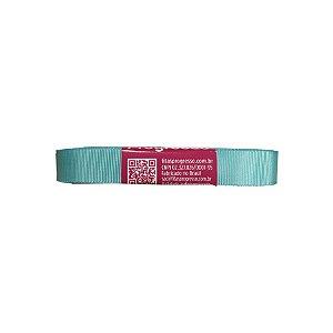 Fita Gorgurão Progresso 15mm nº3 - 10m Cor 247 Azul Tiffany - 01 unidade
