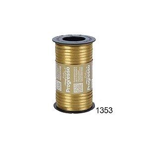 Fita de Cetim Carretel Progresso 4mm nº00 - 100m Cor 1353 Dourado - 01 unidade