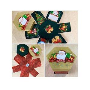 Caixa Explosão Noel Feliz Natal Ref.1941 com 2 unid. - Erika Melkot Rizzo Confeitaria