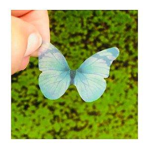 Enfeite decorativo Borboleta Tecido Verde Mesclado - 10uns - Rizzo Confeitaria