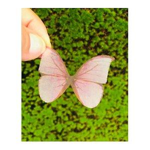 Enfeite decorativo Borboleta Tecido Rosa - 10uns - Rizzo Confeitaria