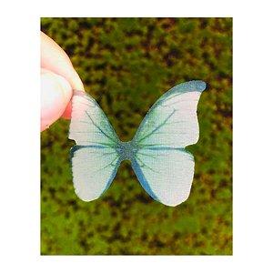 Enfeite decorativo Borboleta Tecido Esmeralda - 10uns - Rizzo Confeitaria