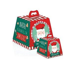 Caixa para Panetone Noel Chef - 10 unidades - Cromus Natal - Rizzo