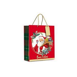 Sacola Boas Festas - 01 unidade - 26cm - Cromus Natal - Rizzo