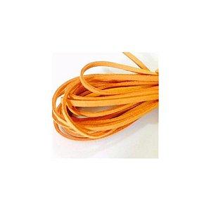 Cordão de Camurça Laranja 5m - 01 unidade - Cromus - Rizzo