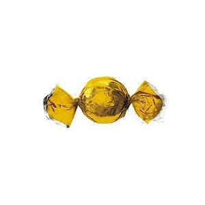 Papel Trufa 14,5x15,5cm - Metalizado Ouro - 100 unidades - Cromus - Rizzo Confeitaria