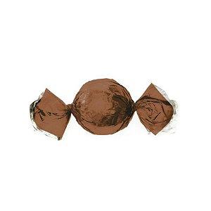 Papel Trufa 14,5x15,5cm - Metalizado Castanho - 100 unidades - Cromus - Rizzo Confeitaria
