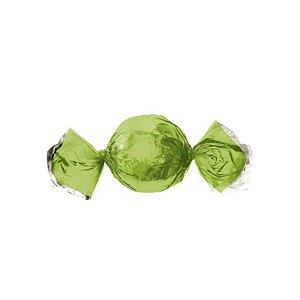 Papel Trufa 14,5x15,5cm - Metalizado Verde Maçã - 100 unidades - Cromus - Rizzo Confeitaria