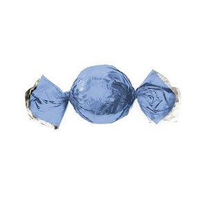 Papel Trufa 14,5x15,5cm - Metalizado Azul Claro - 100 unidades - Cromus - Rizzo Confeitaria