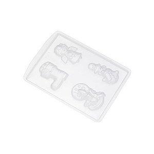 Forma de Acetato Apliques Natal Ref. 621 Crystal Rizzo Confeitaria