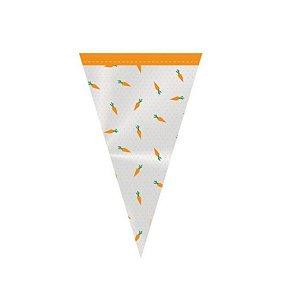 Cone Festa Hora da Cenoura - 18x30cm - 50 unidades - Cromus - Rizzo