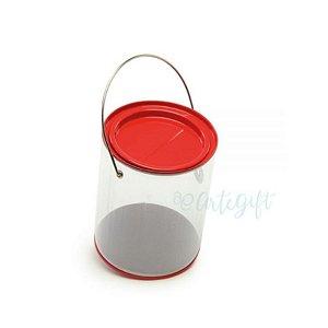 Lata Alça G Vermelha - 9 x 11,5cm - 4un - Artegift - Rizzo