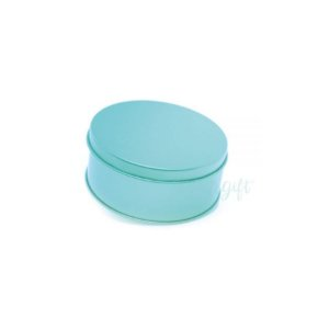 Lata Redonda para Lembrancinha Azul Tiffany - 10 x 10cm - Artegift - Rizzo