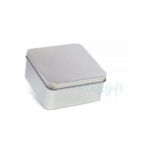 Lata Quadrada para Lembrancinha Prata M - 9,5 x 4,5cm - 6un - Artegift - Rizzo