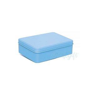 Lata Retangular para Lembrancinha Azul - 12 x 9 x 4cm - 6un - Artegift - Rizzo
