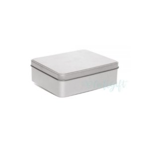 Lata Retangular para Lembrancinha Prata - 12 x 9 x 4cm - 6un - Artegift - Rizzo