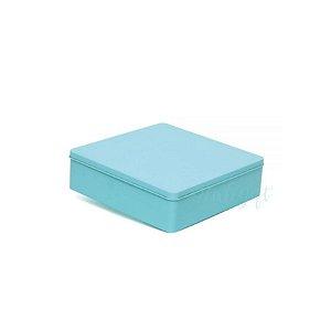 Lata Quadrada para Lembrancinha Tiffany G - 19,5 x 5,5cm - Artegift - Rizzo