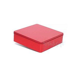 Lata Quadrada para Lembrancinha Vermelha G - 19,5 x 5,5cm - Artegift - Rizzo