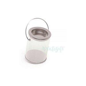 Mini Lata Tinta Prata - 4 x 7cm - 6un - Artegift - Rizzo