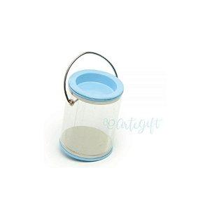 Mini Lata Tinta Azul - 4 x 7cm - 6un - Artegift - Rizzo