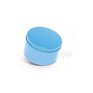 Lata Redonda para Lembrancinha Azul - 7,5 x 4cm - 6un - Artegift - Rizzo