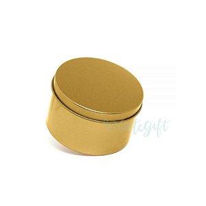 Lata Redonda para Lembrancinha Dourada - 7,5 x 4cm - 6un - Artegift - Rizzo
