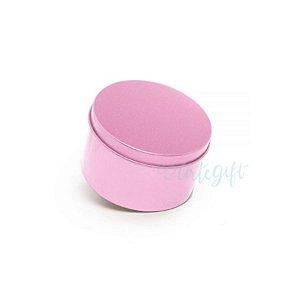 Lata Redonda para Lembrancinha Rosa - 7,5 x 4cm - 6un - Artegift - Rizzo