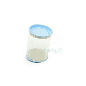 Tubo Lata Azul - 8,5 x 6,3cm - 6un - Artegift - Rizzo