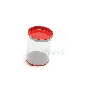 Tubo Lata Vermelho - 8,5 x 6,3cm - 6un - Artegift - Rizzo