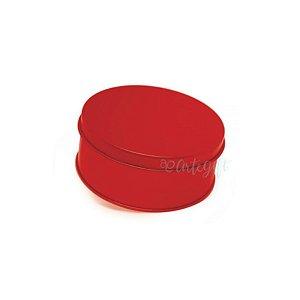 Lata Redonda para Lembrancinha Vermelha - 10 x 4cm - 1un - Artegift - Rizzo