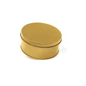 Lata Redonda para Lembrancinha Ouro - 10 x 4cm - 1un - Artegift - Rizzo