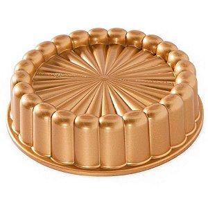 Forma em Alumínio Fundido Charlotte Cake Nordic Ware Rizzo Confeitaria