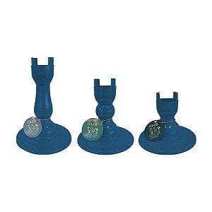 Base Pé Boleira - Azul Petroleo - Só Boleiras - Rizzo Confeitaria