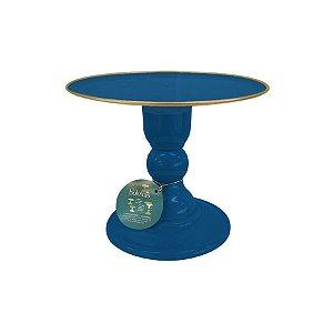 Boleira - Azul Petroleo com Filete - Só Boleiras - Rizzo Confeitaria