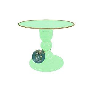 Boleira - Verde Água com Filete - Só Boleiras - Rizzo Confeitaria