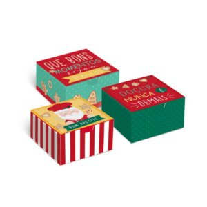 Caixa Divertida para Brigadeiros Noel Chef - 10 unidades - Cromus Natal - Rizzo