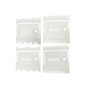 Kit Mini Espátula Decorativa Cristal 4 pçs Mago