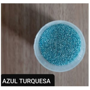 Pó para Decoração - Glitter Azul Turquesa - Jeni Joni - 10g - Rizzo Confeitaria
