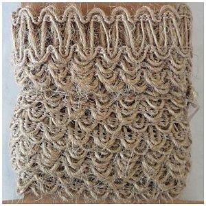 Fita Decorativa de Juta com Detalhes em Zig Zag - 3 metros - ArtLille