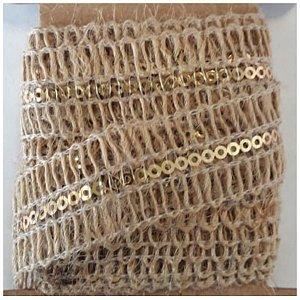 Fita Decorativa de Junta com Detalhe Dourado - 2 metros - ArtLille