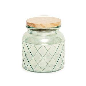 Pote de Vidro Verde Pastel M - 15x10x10cm - Linha Drops - Cromus Páscoa - Rizzo